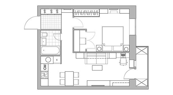 Перепланировка и объединение кухни с гостиной, снос стен