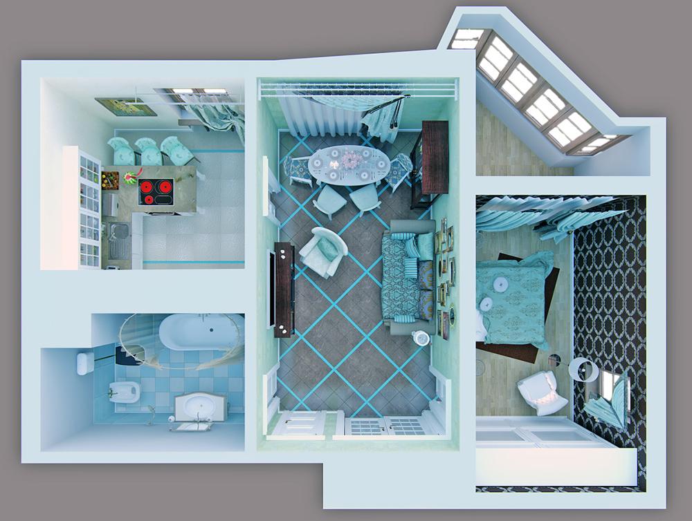 Маленькие комнаты интерьер