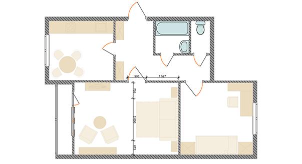Дизайн спальни-гостиной - как их совместить в одном помещении (фото)?